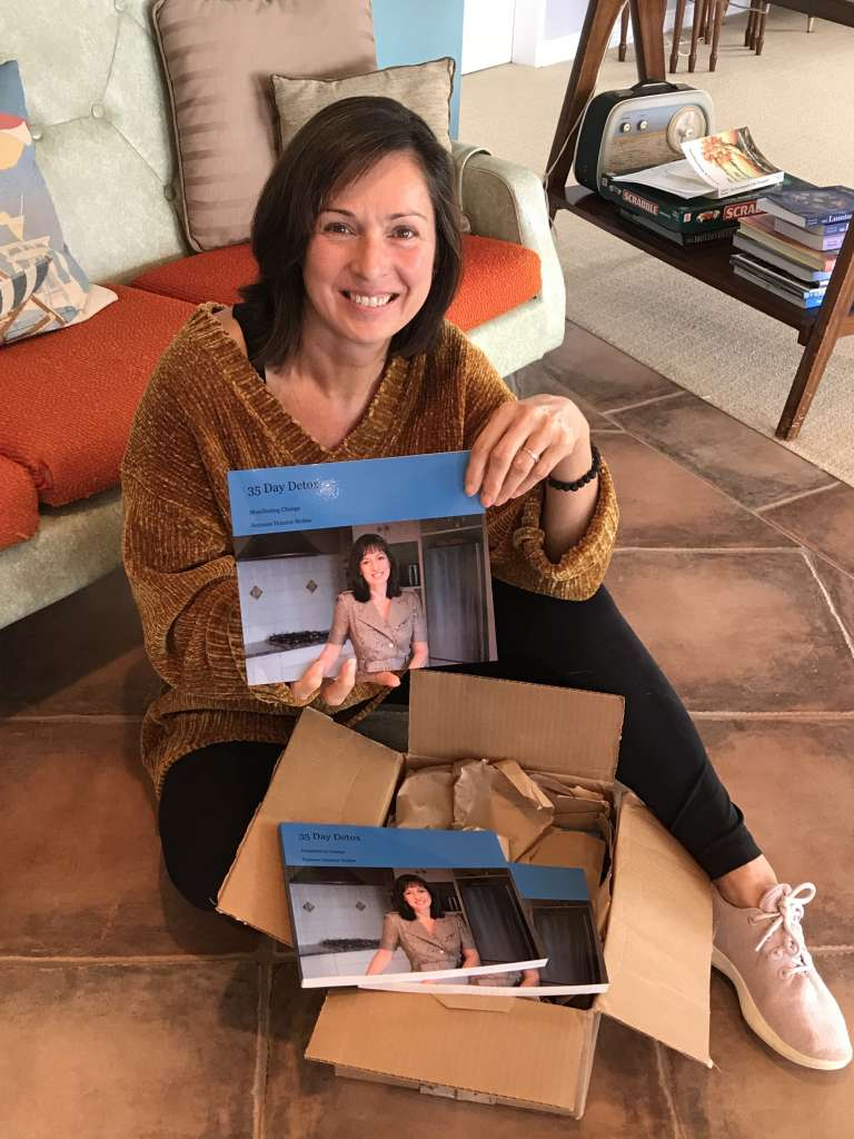 Suz with 35 Day Detox recipe book